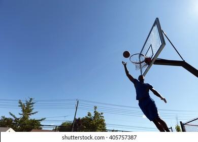 Basketball Layup Silhouette