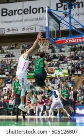 Basketball League match between Joventut and Baskonia, final score 83 - 90, on Oct 23, 2016, in Badalona, Spain.