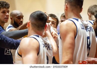 "The basketball match of Ukrainian Superleague Parimatch season 202021 BC ""Kharkiv Sokoly"" - MBC ""Nikolaev"",31.01.2021,Ukraine, Kharkov"