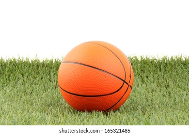basketball on green grass