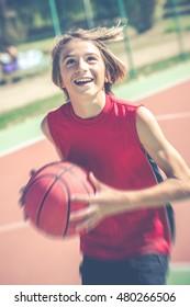 basketball player - vintage style photo