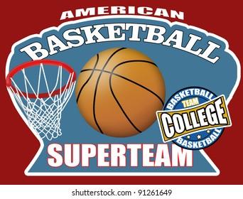 Basketball poster background, illustration