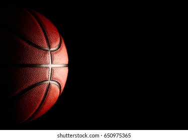 basketball sport on black background.
