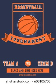 Basketball tournament flyer and poster template
