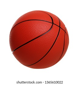 Basketball toy isolated on a white background