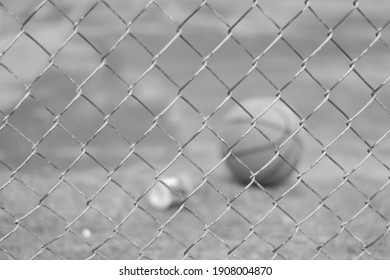 basketball view through chain link fence
