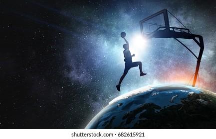 Basketball world cup. Mixed media