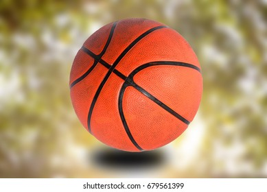 Basketballs on bokeh background