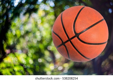 Basketballs on white background