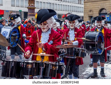 Basler Fasnacht, Carnival of Basel, Basel, Switzerland, Europe, 19. February 2018