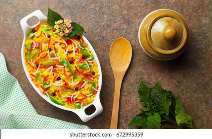 Basmati rice with garnishing