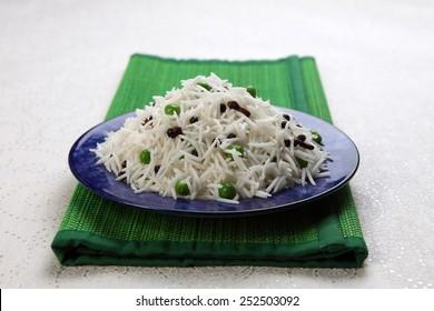 basmati rice in a plate