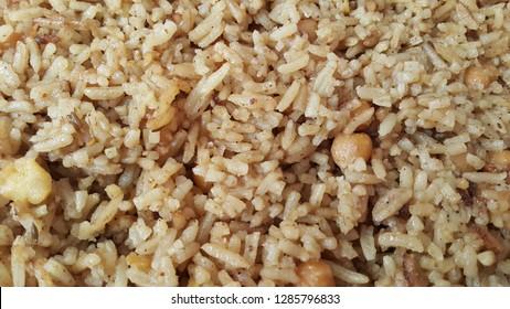 Basmati Rice Pulao or pulav with chana, or vegetable rice