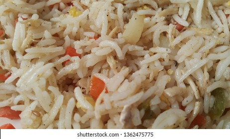 Basmati Rice Pulao or pulav with Peas, or vegetable rice using green peas also known as matar pulao background
