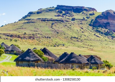 Basotho Cultural Village in Drakensberg Mountains South Africa