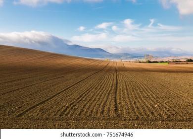 Basque autumnal landscape