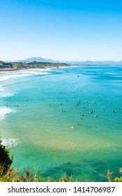 The Basque Coast beach in Biarritz. Basque Country of France.