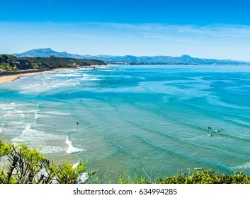 Basque Coast Beach in Biarritz in France