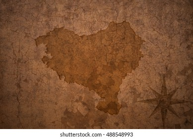 basque country map on vintage crack paper background