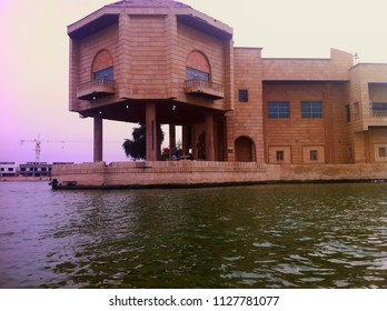 Basra, Iraq - April 12, 2014: The palace of Saddam Hussein is near by Shatt Al-Arab River.