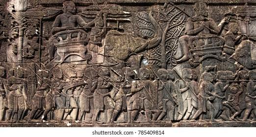 Bas-reliefs of Angkor Wat, Angkor Archeological Park, Siem Reap, Cambodia