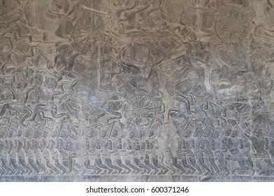 Bas-reliefs in Angkor Wat, Cambodia