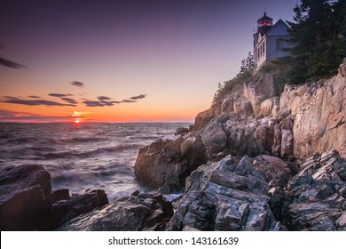 The Bass Harbor Head Light, Acadia National Park, Maine, USA