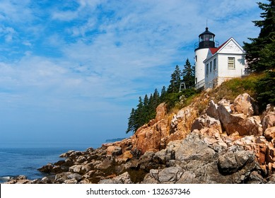 Bass Harbor lighthouse is located in northern Maine's Acadia National Park.