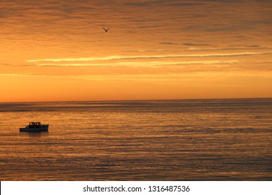 Bass Harbor Lobster Boat at Sunrise