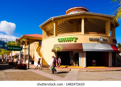 Basseterre, saint george/St. kitts-2/6/2017: Cariloha store selling bamboo made clothes, bedding, and bath goods in Porte zante cruise terminal shopping center
