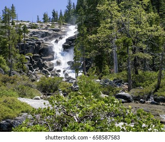 Bassi Falls at the Eldorado National Forest, California, USA, in the end of the Winter of 2017, after many rainstorms.