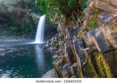 The Bassin La Paix waterfall in Reunion Island