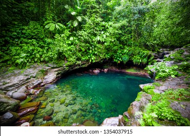 Bassin Paradise lagoon in Guadeloupe, French west indies. Lesser Antilles, Caribbean