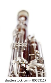 Bassoon against white background