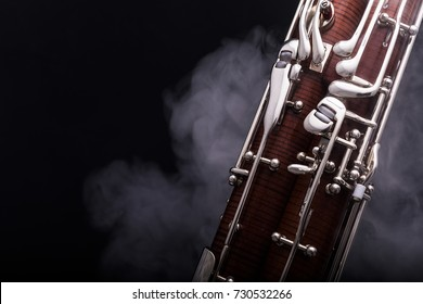 A bassoon surrounded by smoke. Nr.1