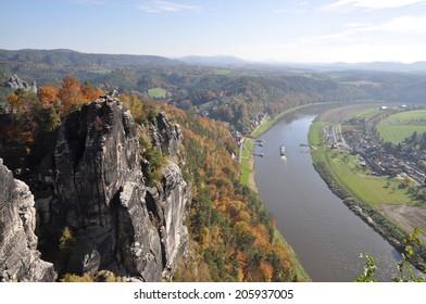 Bastei and Elbe, Saxony