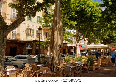 Bastia, Corse/France - 06/09/2011: Cafes on Place Saint-Nicolas