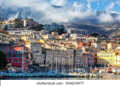 Bastia, Corsica, view of the city beautiful urban landscape, the historical and cultural center of Corsica