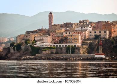 Bastia port in Corsica island, France