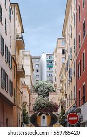 Bastia street  in Corsica