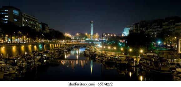 Bastille by night - Paris