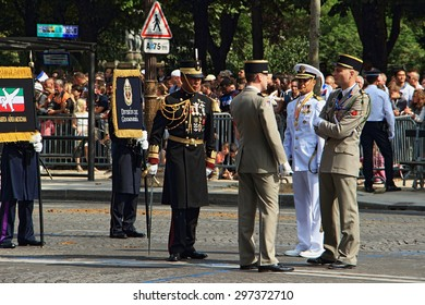 Bastille day military parade, Paris, France, 14 July 2015, avenue Champs-Elysee