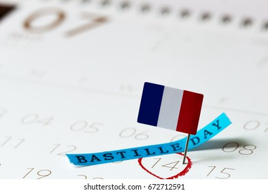 Bastille day-July 14 calendar