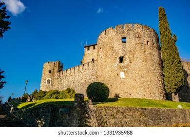 Bastion of the castle of Gorizia. 3 January 2019 Gorizia, Friuli Venezia Giulia - Italy