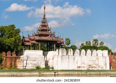 A bastion at the palace walls of Mandalay Palace