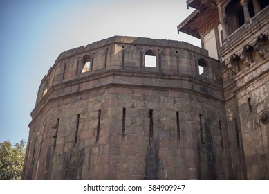 Bastion of the Peshwa fort Shaniwarwada in Pune, India