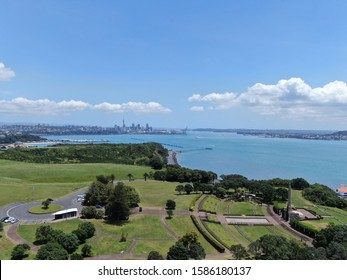 Bastion Point, Auckland / New Zealand - December 12, 2019: The Amazing Cliff of Bastion Point, Okahu Bay and Mission Bay Beach - Shutterstock ID 1586180137