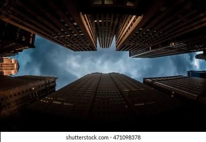 Bat man sign in city skyline