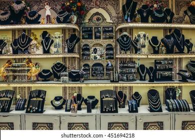 Bat Yam, Israel - October 20, 2015. Interior of Michal Negrin showroom located in Bat Yam near Tel Aviv