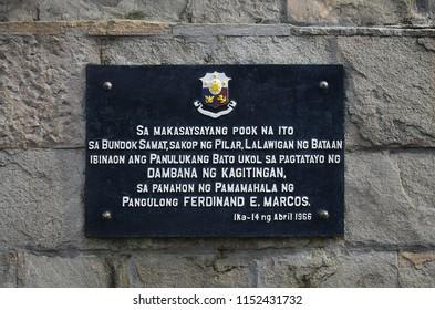 Bataan, Philippines, August 5, 2018: Mount Samat National Shrine, Shrine of Valor in Bataan, Philippines, Southeast Asia.